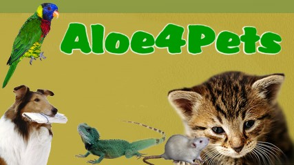 veterinary formula,aloe vera for dogs,pets,aloe vera for cats, reptiles and birds banner